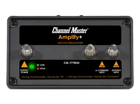Channel Master 7778HD Ampliy+ Adjustable Gain Preamplifier for Proffessionals