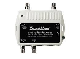 Channel Master 3412 CM-3412 2 way 2 port distribution amplifer low noise