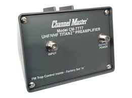 Channel Master 7777 CM-7777 Preamplifier Pre-amp (preamp) for boasting signals on Channel Master 5018 CM-5018 Masterpiece HD TV Antenna in Canada