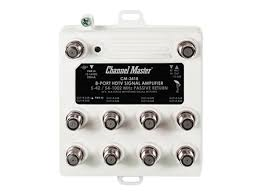 Channel Master 3418 (CM-3418) 8 way Distribution Amp